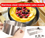 Round Shape Stainless Steel Cake Adjustable Mold