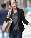 Womens Black Fitted Blazer