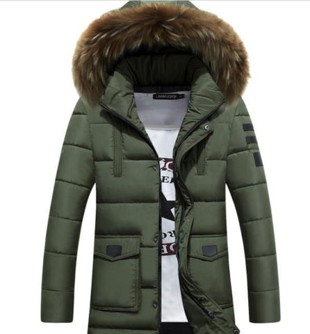 Men's Winter Army Hooded Coat