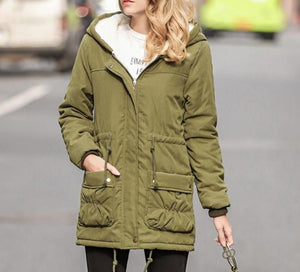 Womens Hooded Parka Jacket