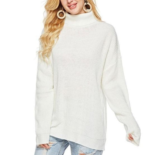 Womens Classic Turtleneck Sweater