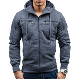 Men's Zipper Hoodie with Elbow Details