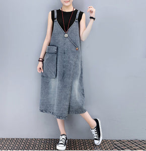 Womens Relaxed Fit Denim Dress