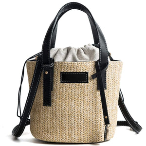 Womens Summer Straw Shoulder Bag
