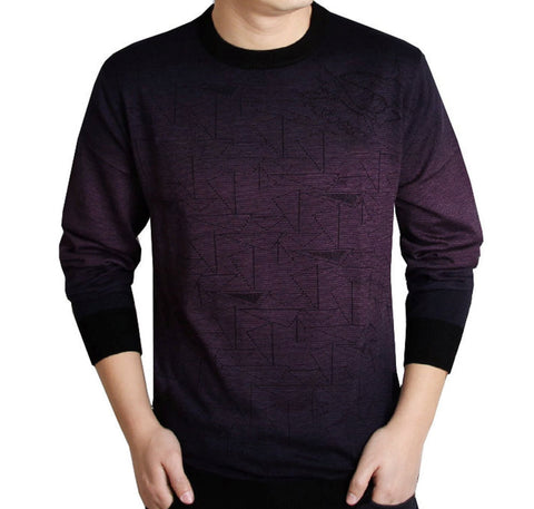 Mens Geo Print Knit Top