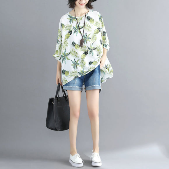 Womens Pineapple Print Top