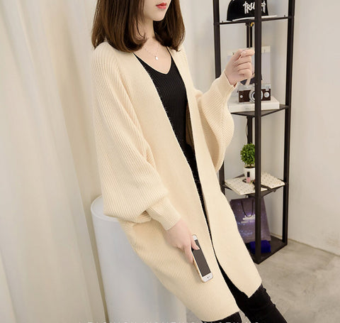 Womens Batwing Long Cardigan