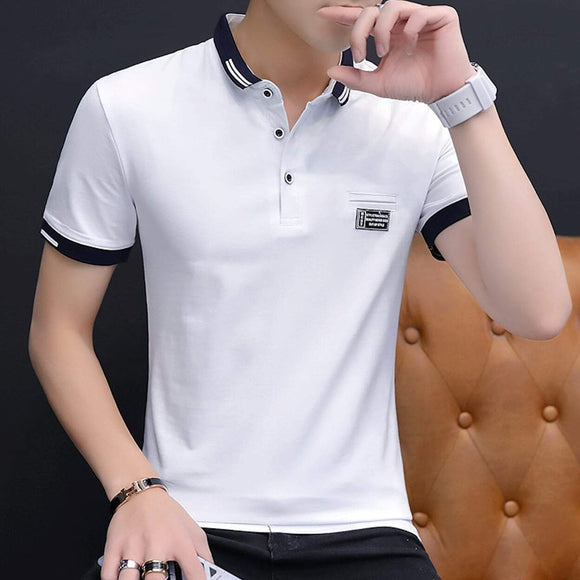 Mens Short Sleeve Polo Shirt with Logo