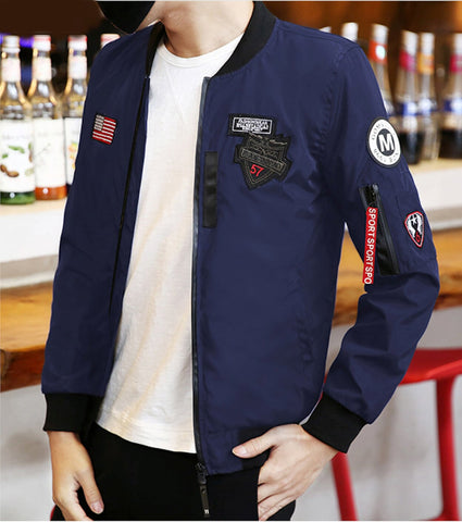Mens Zip Up Bomber Jacket