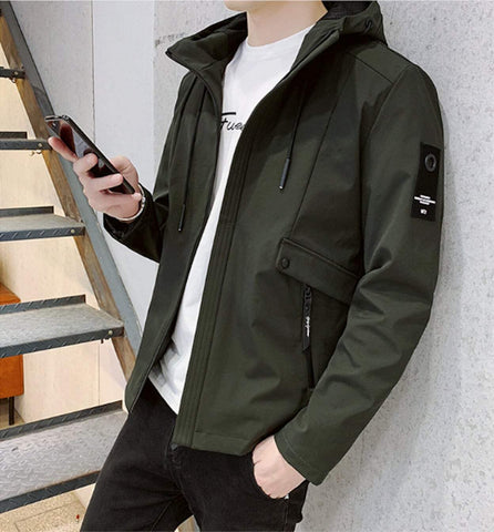 Mens Wind Jacket with Hood
