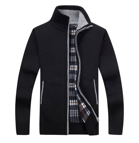 Mens Stand Up Collar Zipper Jacket