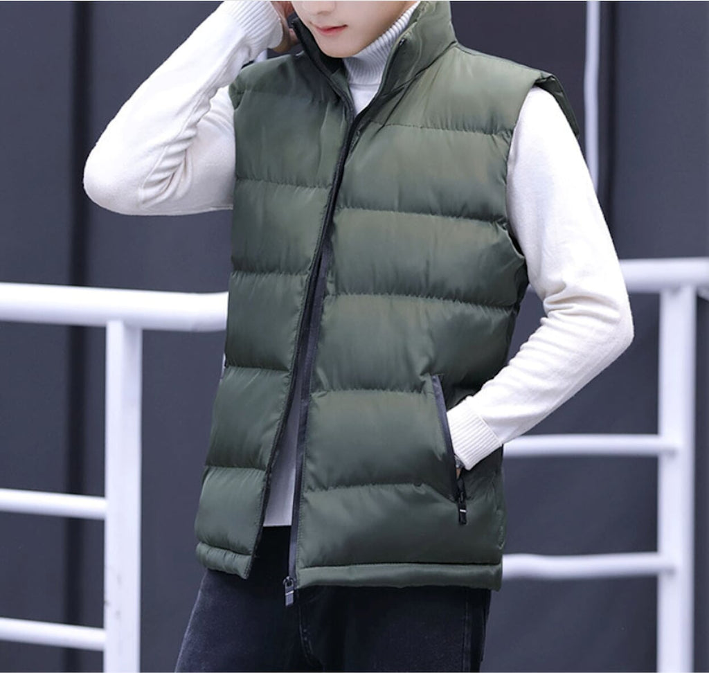 Mens Casual Puffer Vest - AmtifyDirect