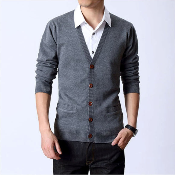 Mens Button Down Cardigan - AmtifyDirect