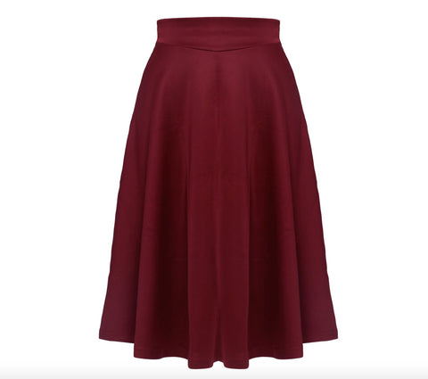 Womens High Waist Flowy Skirt