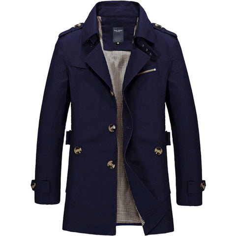 Mens Medium Length Trench Coat