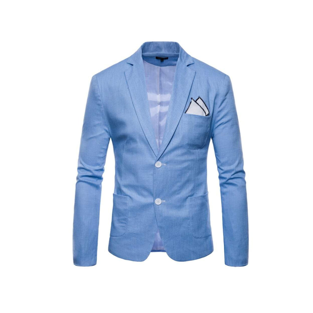 Mens Casual Linen Blazer - 7 Colors to Choose From