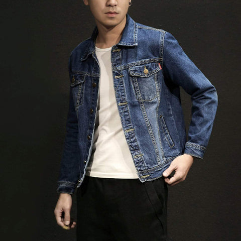 Mens Loose Fit Denim Jacket