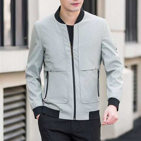 Mens Zip Up Baseball Jacket