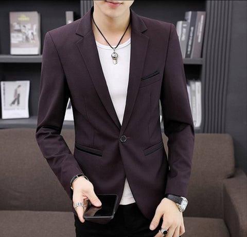 Mens Single Button Casual Blazer