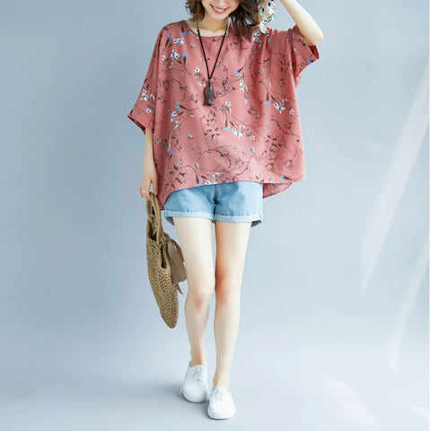 Womens Batwing Floral Top
