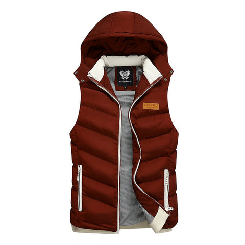 Mens Hooded Puffer Vest - AmtifyDirect