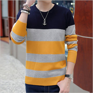 Mens Color Block Sweater - AmtifyDirect