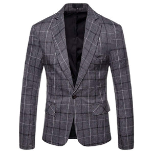Mens Plaid Blazer