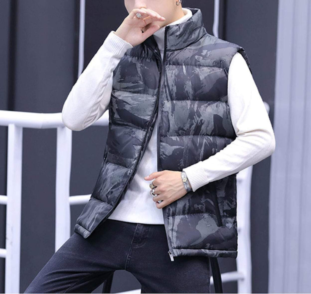 Mens Army Camo Puffer Vest - AmtifyDirect