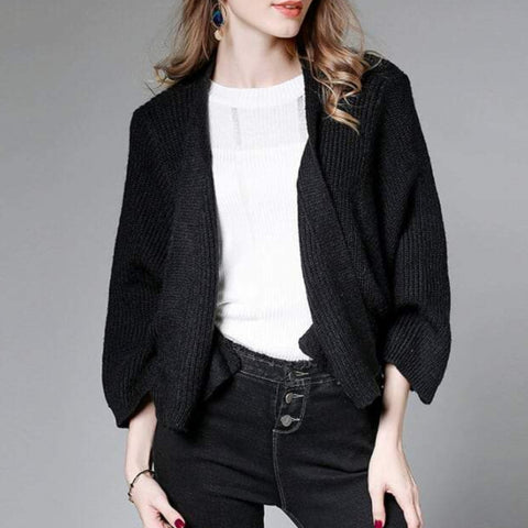 Womens Short Batwing Cardigan
