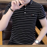 Mens Striped Polo Shirt