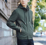 Mens Hooded Zipper Jacket