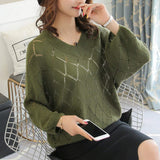 Womens Batwing Knit Top