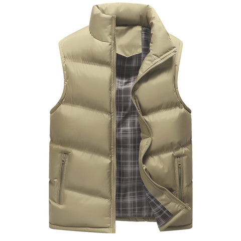 Mens Zip Up Casual Puffer Vest