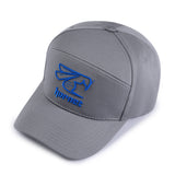 Hornet 5 Panel Cap in Grey with Blue Logo