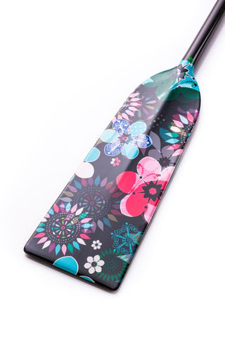 Black Flowers Hornet STING G6 Dragon Boat Paddle IDBF Approved Available in Fixed or Adjustable Length with Design on Both Sides