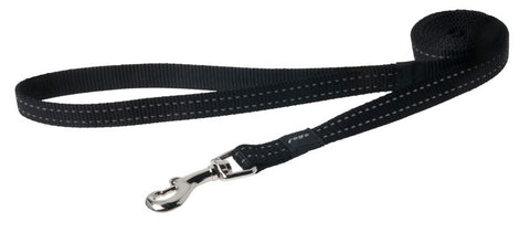 Rogz Utility Reflective Stitching Fixed Lead Black
