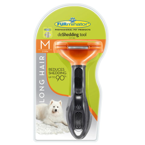 Furminator Long Hair Deshedding Tool for Medium Dogs