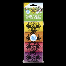 Bags On Board Waste Pick-Up Refill Bags - Rainbow