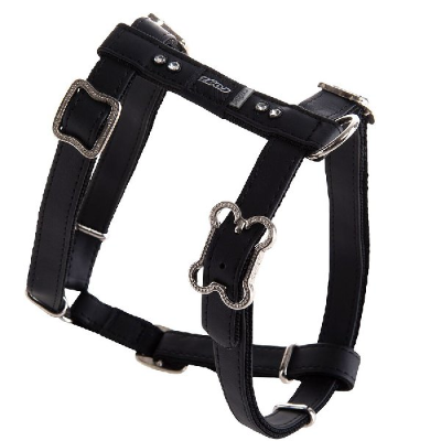 Rogz Lapz Luna Dog H-Harness Black