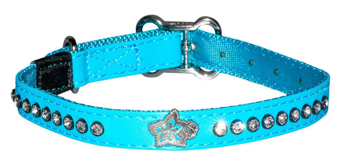 Rogz Lapz Luna Dog Collar Blue