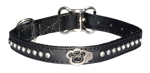 Rogz Lapz Luna Dog Collar Black