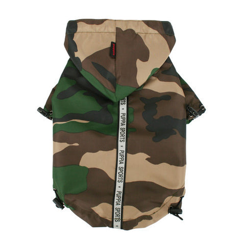 Puppia Sports Base Jumper Raincoat - Camo