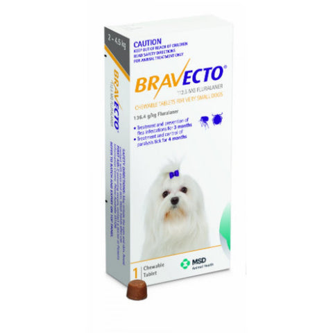 Bravecto Chewable Tablet for Extra Small Dogs