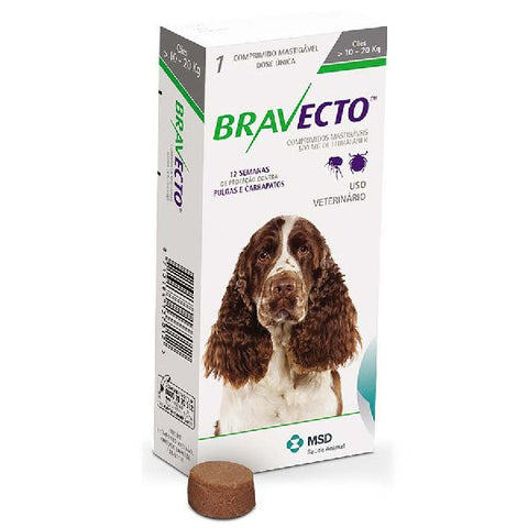 Bravecto Chewable Tablet for Medium Dogs
