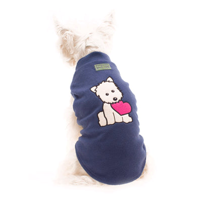 Hamish McBeth Puppy Heart Pyjamas BLUE