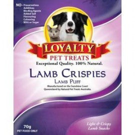 Loyalty Pet Treats Lamb Crispies 70g