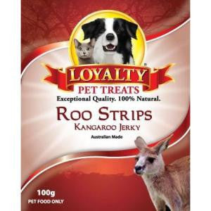 Loyalty Pet Treats Roo Strips 100g