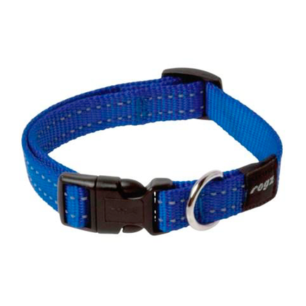 Rogz Utility Reflective Stitching Collar Dark Blue