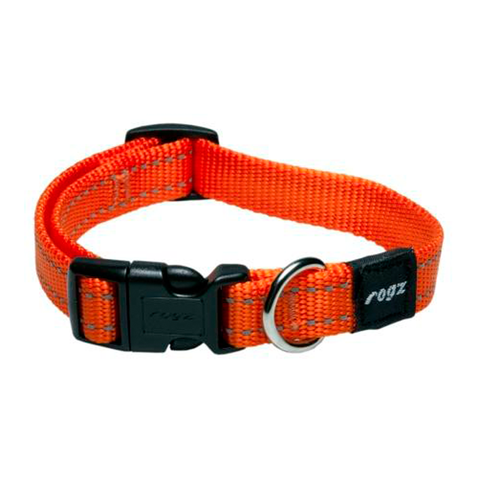 Rogz Utility Reflective Stitching Collar Orange