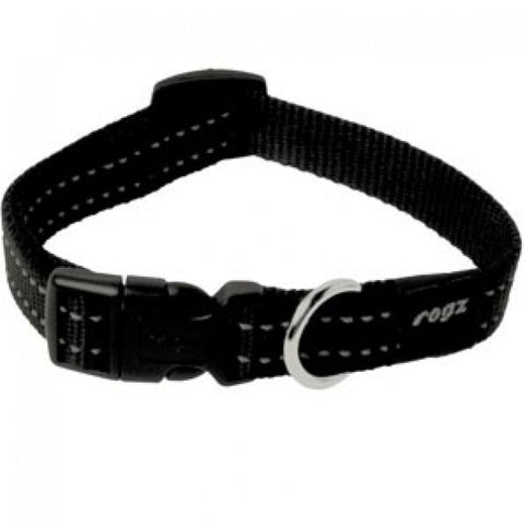 Rogz Utility Reflective Stitching Collar Black